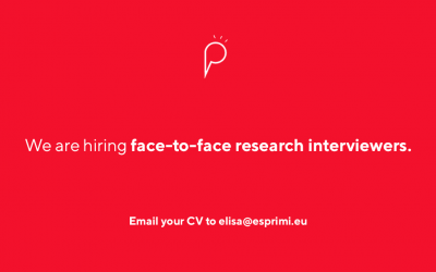 We are looking for face-to-face research interviewers (Malta and Gozo)